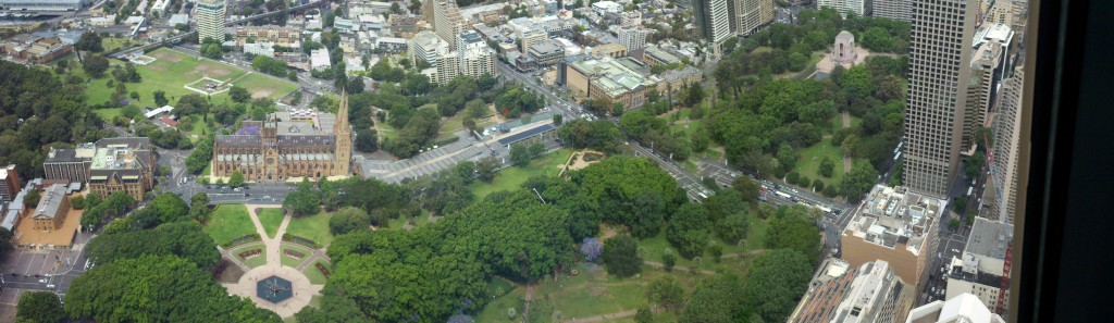 Hyde Park View from Sydney Tower