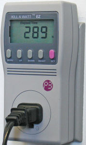 Picture of a Kill-A-Watt power meter