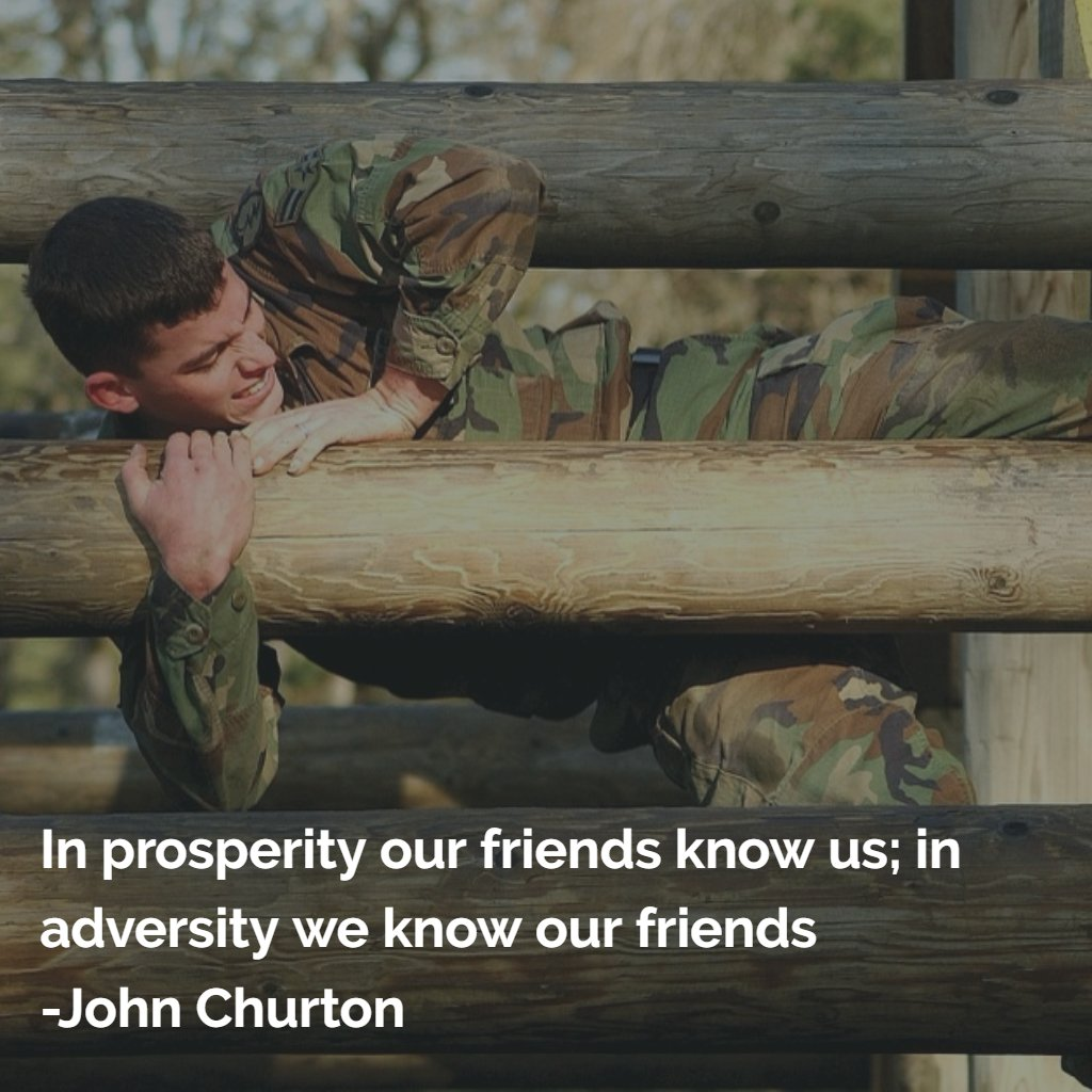 In prosperity our friends know us; in adversity we…
