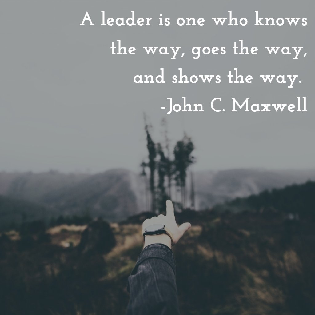 A leader is one who knows the way, goes the way, a…