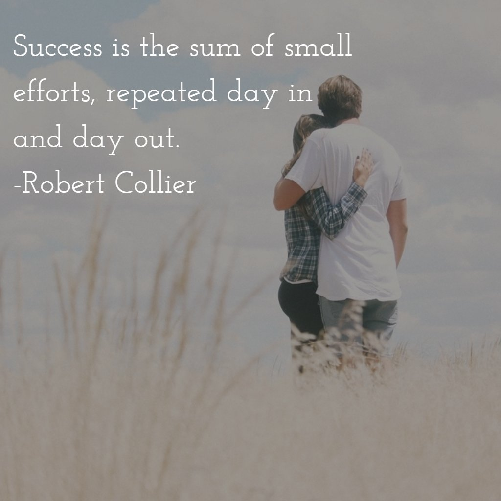 Success is the sum of small efforts, repeated day…